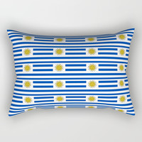 flag of Uruguay-Uruguyan,montevideo,spanish,america,latine,Salto,south america,paysandu,costa,sun Rectangular Pillow by oldking