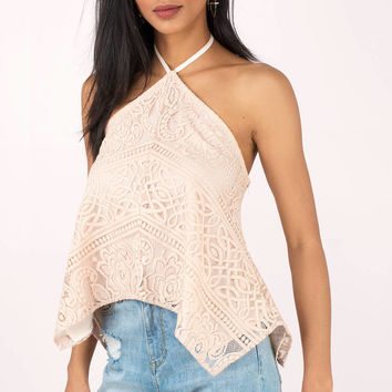 Arabella Lace Halter Top