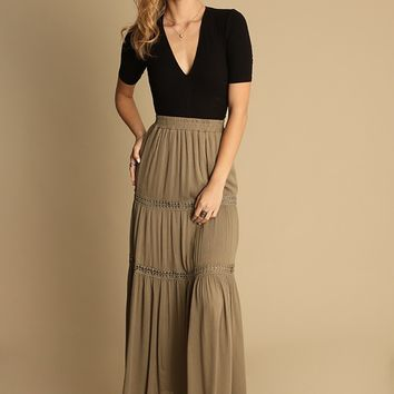Polly Maxi Skirt | Threadsence