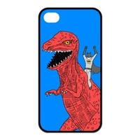 Batman With Monster Big Dinosaur Pattern Snap On Case Hard Cover for Apple iPhone 4 iPhone 4s