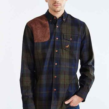 Staple Newcastle Woven Button-Down Shirt- Olive