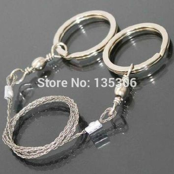ONETOW 5pcs/lot Sporting Gifts Silver Steel Wire Saw Scroll Saw Emergency Hiking Camping Hunting Survival Tool TO16655