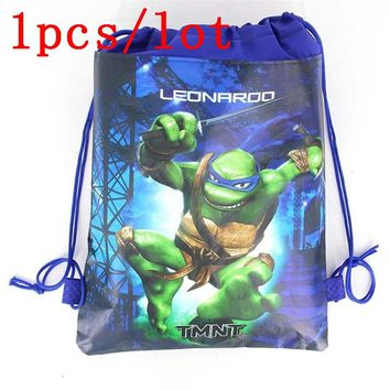 1Pcs Baby Shower Ninja Turtles Kid Favors Mochila Non-Woven Fabric Backpack Birthday Party Decoration Drawstring Bags Supplies