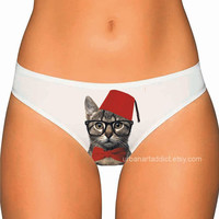 Geek Cat Underwear - Whovian Cat Panties, Thongs, Undies, Lingerie, for doctor who fans