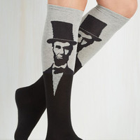 Quirky Land of Linked In Socks in Grey by ModCloth
