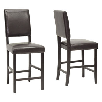 Design Studios Love Counter Stools (Set of 2) - Dark Brown