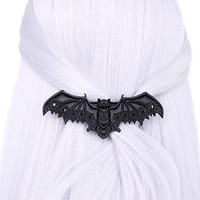 Black Lace Vampire Bat Barette Hair Clips Occult