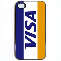 iPhone 4 Case Visa Credit Card by KustomCases on Etsy
