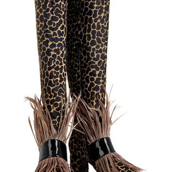 SS16 'Fear and Loafing' Camel Knee High Boots