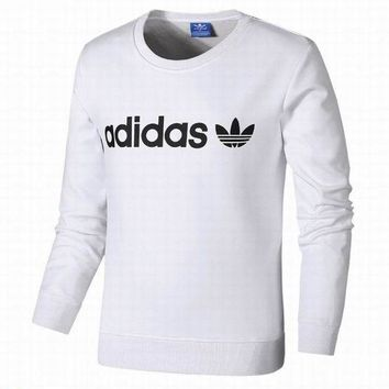 PEAPJ1A Adidas Clover Tide brand men and women fashion plus cashmere sweater White
