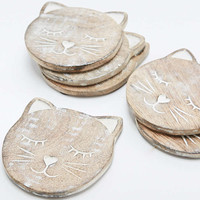 Cat Coaster Set - Urban Outfitters