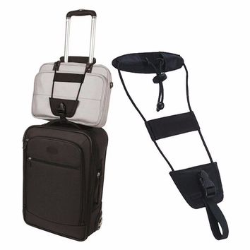 2 Pcs Add A Bag Strap Storage For Travel Luggage