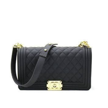Metal Lock Rubber Quilted Bag