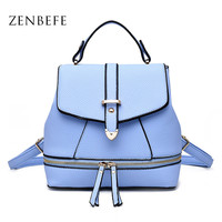 ZENBEFE Small Women'S Backpacks Durable Ladies Shoulder Bags Fashion Women Bag  Multifunction Women Daily Bag Backpack For Lady