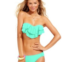 Hula Honey Molded Ruffled Bandeau Top & Hipster Bikini Bottoms | macys.com