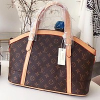 Louis Vuitton LV Fashion New Monogram Print Leather Shell Shape Shopping Leisure Shoulder Bag Crossbody Bag Handbag