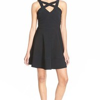 Love, Nickie Lew Cage Front Fit and Flare Dress | Nordstrom