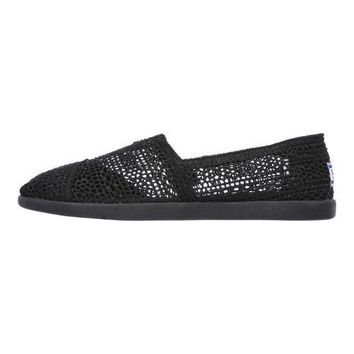Women's Skechers BOBS World Daisy and Dot Alpargata Black | Overstock.com Shopping - The Best Deals on Flats