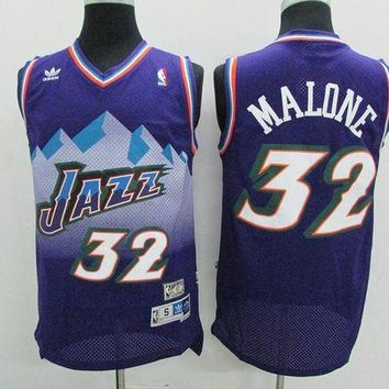 DCCK Utah Jazz #32 Karl Malone Purple Retro Swingman NBA Jerseys