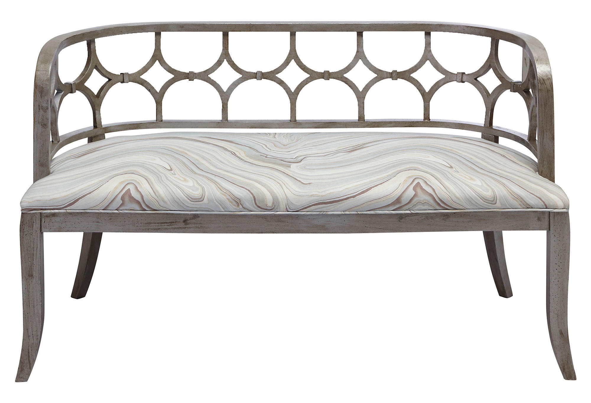 """Zoe 53"""" Bench, Dove Marble, Entryway from One Kings Lane"""