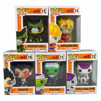 Funko Pop Dragon Ball Z Vinyl Figure Goku Vegeta Cell Piccolo Frieza Action Doll Super Saiyan Model Anime Dragonball Z Toy