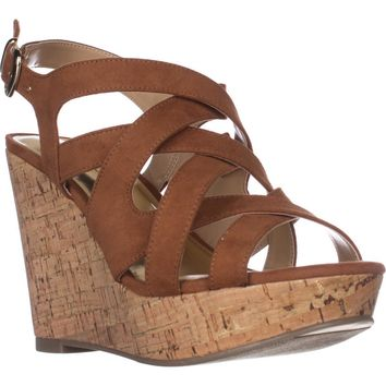TS35 Maddor Casual Wedge Sandals, Cognac, 8 W US