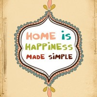 Home Is Happiness Made Simple by ParadaCreations on Etsy