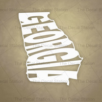 Georgia Vinyl Decal Sticker for Car Truck Auto. Word Art . US State Pride.