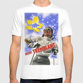 CANADA/winter sports-skiing/vintage T-shirt by Kathead Tarot/David Rivera