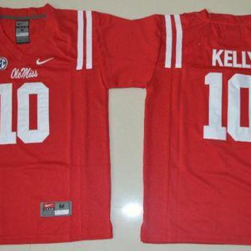 Nike Youth Ole Miss Rebels Chad Kelly 10 College Ice Hockey Jerseys   Red Size Smlxl