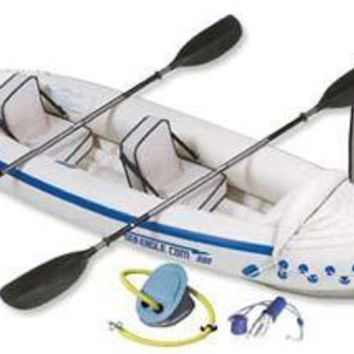 Sea Eagle 330 Inflatable Kayak Includes Seats Paddles and Pump