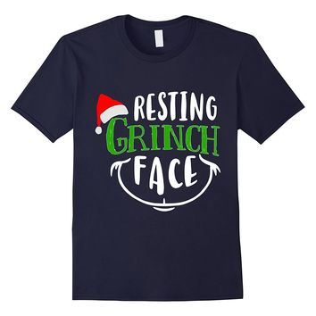Resting Grinch Face Christmas Holiday T-Shirt