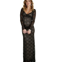 Top Of The Pops Black Lace Dress