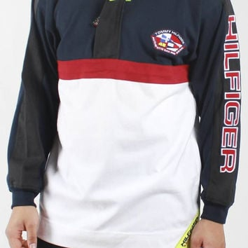 Vintage Deadstock Tommy Hilfiger Sailing Gear Hooded Pullover Sweatshi – F As In Frank Vintage