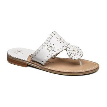 Girls' Palm Beach Miss Sandal in White by Jack Rogers
