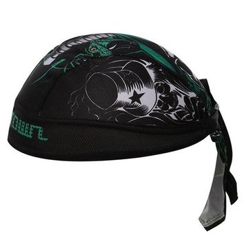 2018 Summer Men Pirate Bandana Hat Hood Riding Ciclismo Equipment Sport Quick Dry Pure Cycling Caps Head Scarf Headscarf H150