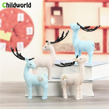 2018 Newest European Resin Figurines Ornaments Furniture Garden Decoration Fawn Spring Decor Living Room Bedroom Desktop Crafts