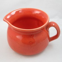 Franciscan Interpace Shady Lane Gravy Sauce Boat Pitcher X6 Deep Coral Color