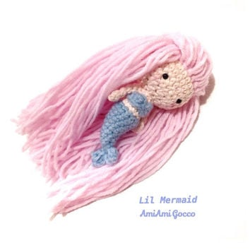 Mermaid Doll Amigurumi Mermaid Toy Amigurumi Doll Crochet Doll Handmade Crochet Toy Girls Toys Plush Kawaii Birthday Gift Ideas