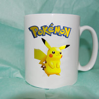 Pokemon Pikachu mug coffee, mug tea, size 8,2 x 9,5 cm heppy cofee.