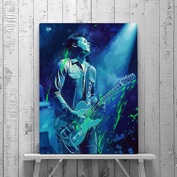 Jack White, Jack White Print, Jack White Art, The White Stripes,  Portrait, Music Poster, Wall Art Print