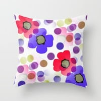 Floret Throw Pillow by Kathleen Sartoris