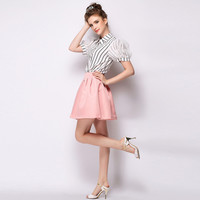 Plain Pleated A-Line Skirt