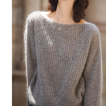 Pullover Knit Tops Sea Sweater [9138776135]