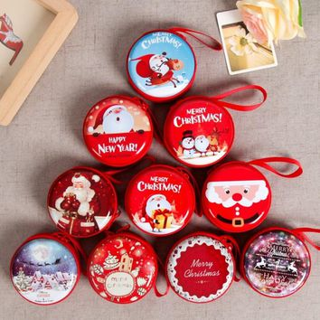 Mini Tin Box Sealed Jar Small Storage Cans Baroque for Kid Packing Xmas Candy Box Christmas Coin Earrings Headphones Gift Box