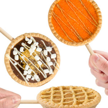Pie Lollipops: Dessert delights on a stick.