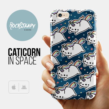 Space Caticorn Cat Unicorn iPhone 6 case, iPhone 6s case, iPhone 6 Plus case, Samsung S5, S6, S7 case, 5s Case, 5c case, kawaii 6s plus case