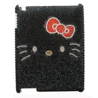 Hello Kitty Crystal & Rhinestone Black Ipad 2/3 Case/Cover by Jersey Bling