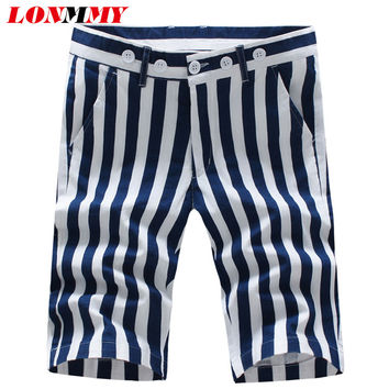 LONMMY 28-38 SIZE 2017 Summer casual shorts mens Fashion 95% cotton Mens shorts beach Brand-clothing short masculino New