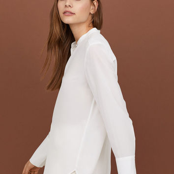 Silk Blouse - White - Ladies | H&M US